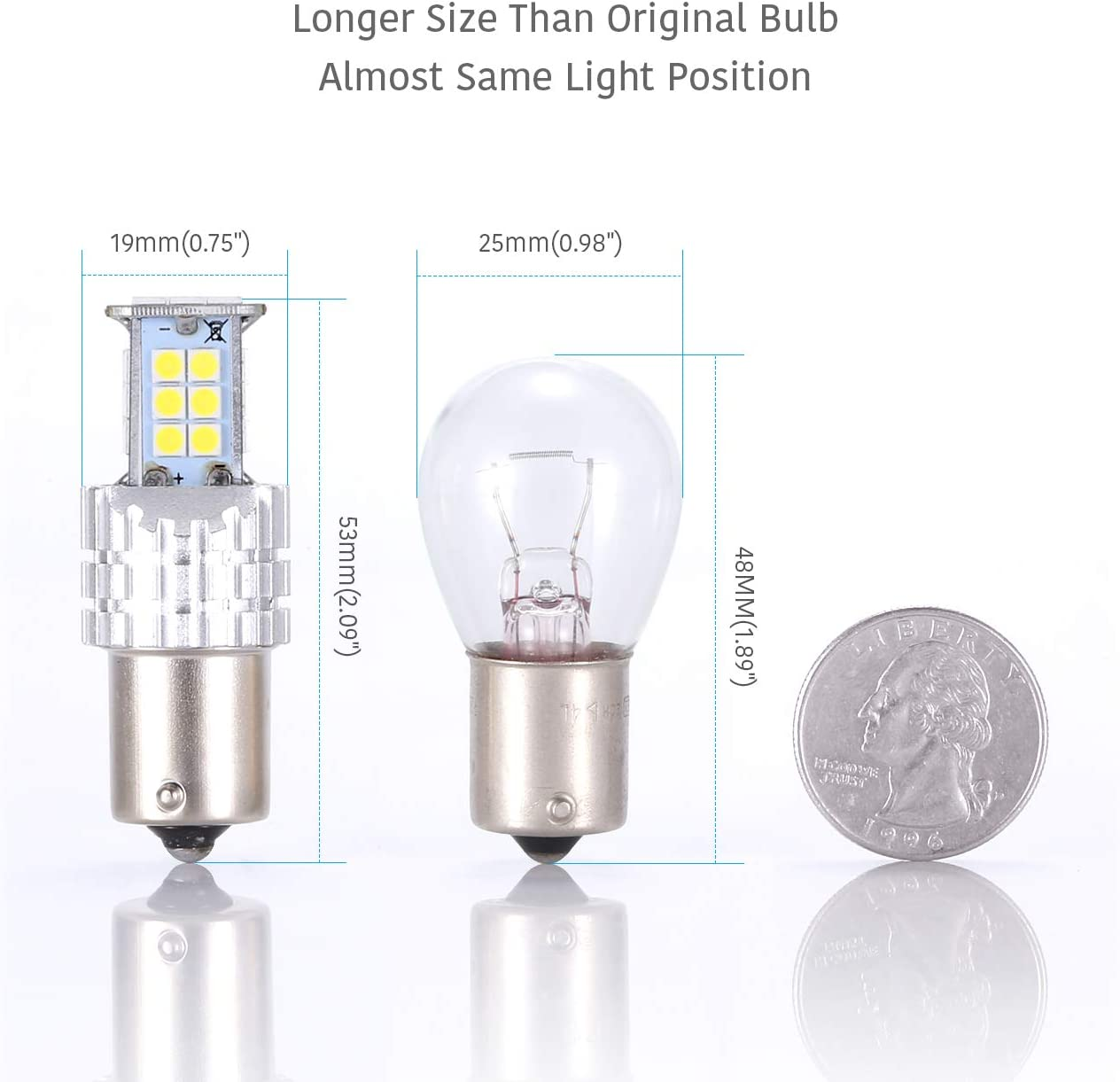 2x Osram Ultra Life Reverse Light Bulbs Lamps Back Up Genuine Replacment