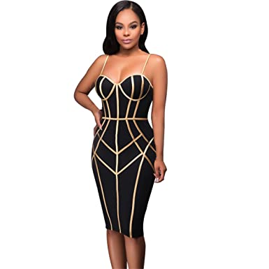 Womens Dresses,Moonuy,Womens Dresses Party, Sleeveless Spaghetti Strap Bodycon Evening Party Dress