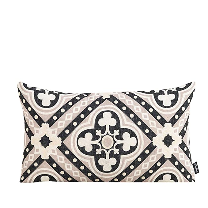 c6efc0af4483ef Amazon.com  MR FANTASY Geometric Throw Pillow Cover Cases Rectangular  Decorative Boho Lumbar Cushion Covers Cases for Couch Sofa Bed 12x20 Poker  Clubs ...