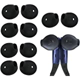 Ear Buds For Samsung Level U Headphones , Samsung Galaxy S6 S6Edge G9200 G9250 G9208 Earphones Ear Cover , Note5 Earphone BLUEWALL Durable Silicone Fit Soft Thin Light Ear Cushion , 6 Pairs, Black