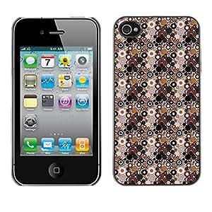 ZECASE Funda Carcasa Tapa Case Cover Para Apple iPhone 4 / 4S No.0002951