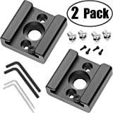"2 Pack Cold Shoe Mount Adapter Cold Shoe Bracket Standard Shoe Type with 1/4"" Thread Hole for Camera DSLR Flash Led Light Monitor Video and More"