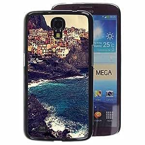 A-type Arte & diseño plástico duro Fundas Cover Cubre Hard Case Cover para Samsung Galaxy Mega 6.3 (Europe Sun Summer Buildings)