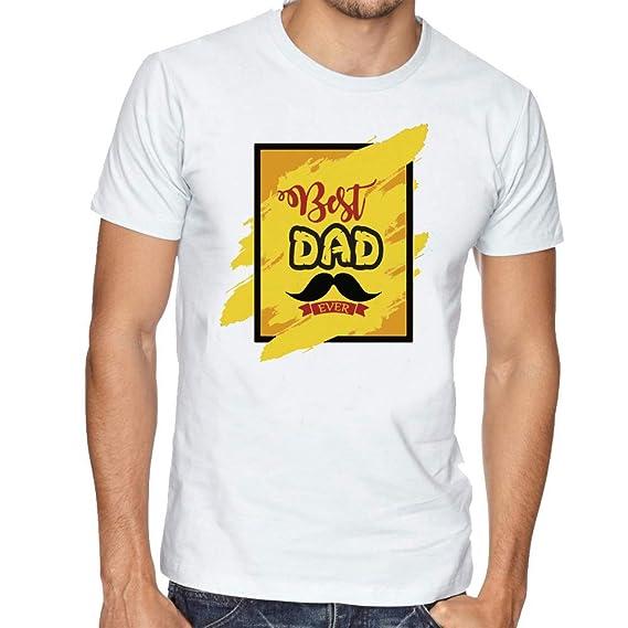 535b90dd LIMIT Fashion Store - Best Dad Ever Design T-Shirt: Amazon.in ...