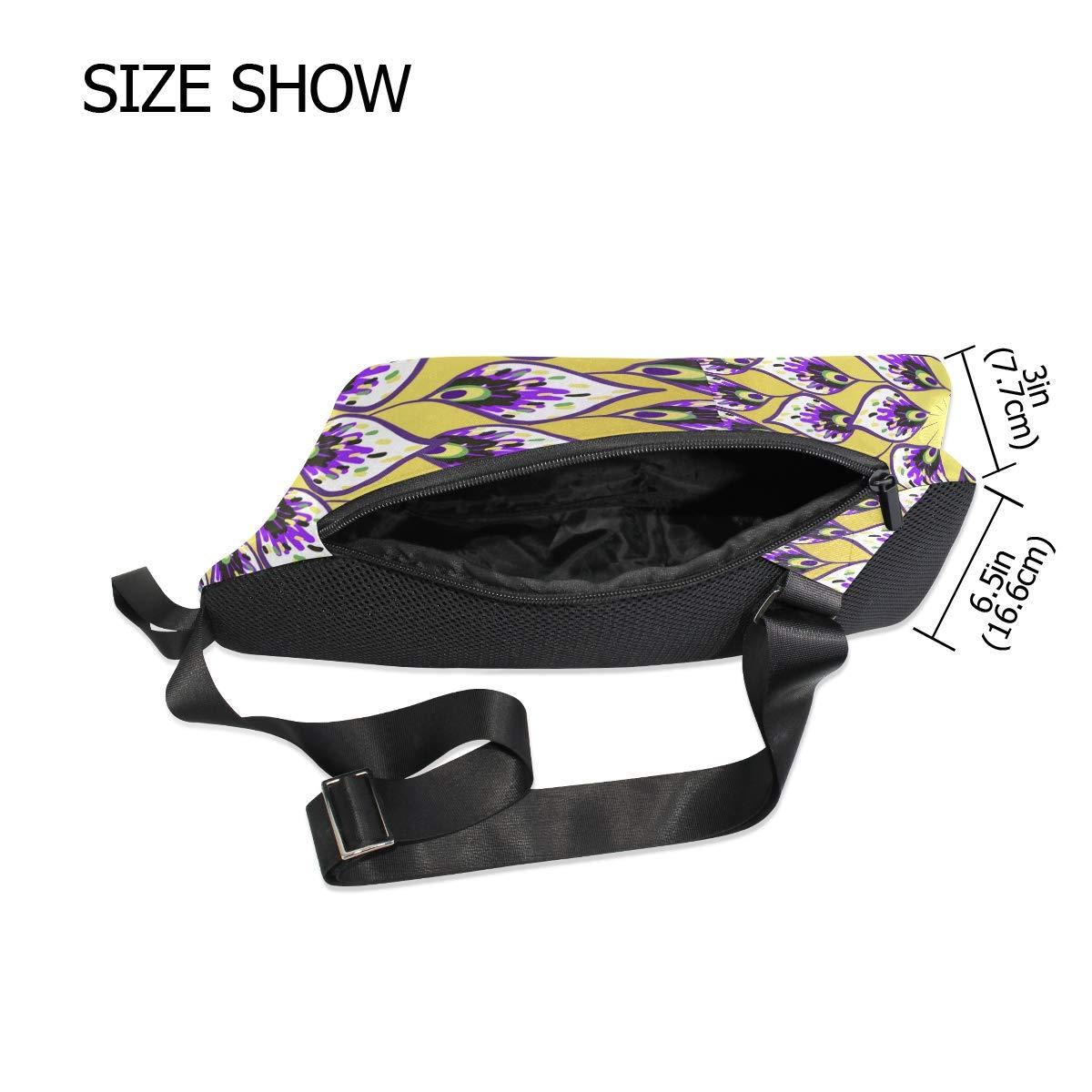 Unisex Messenger Bag Kaleidoscope Mandala Shoulder Chest Cross Body Backpack Bag