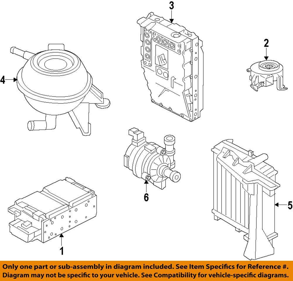 Porsche OEM 12-15 Panamera Cooling System-Coolant Reservoir Tank 95810640700