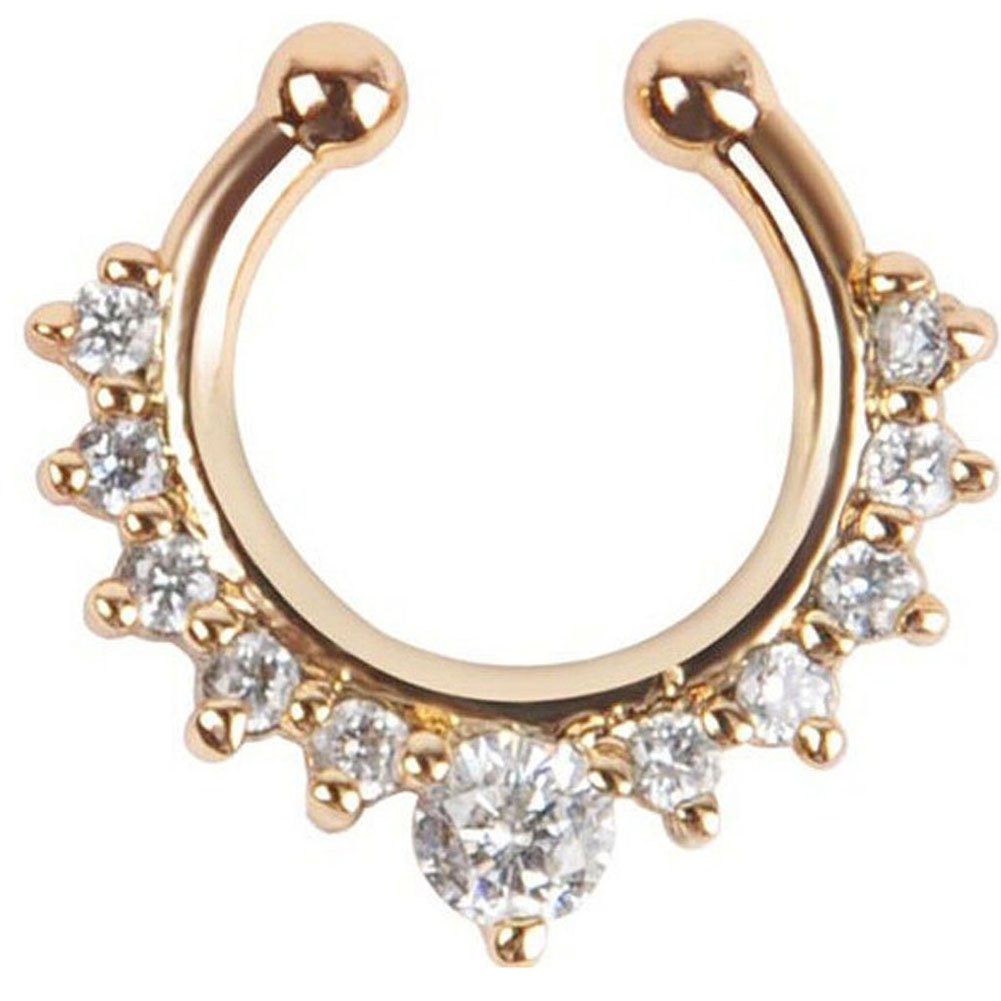 1 Piece Clip on Jewelry Creative Fake Septum Clicker Nose Ring Peki PKL15005