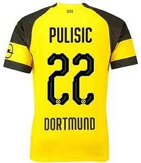 eaa6d3d6c Lujfhd Mens Dortmund Pulisic Home Soccer Jersey 18-19 22 Football Jersey  Yellow(