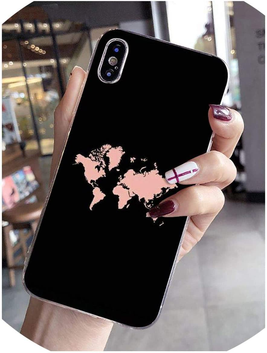 Travel in The World map Planes Phone case for iPhone 8 7 6 6S Plus X XS max 5 5S SE XR Mobile Cover-in Half,5,for iPhone XR