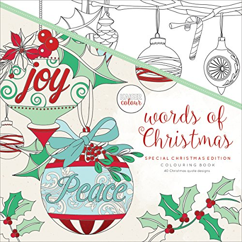 Kaisercolour Perfect Bound Coloring Book 9.75''X9.75''-Words Of Christmas by Kaisercraft
