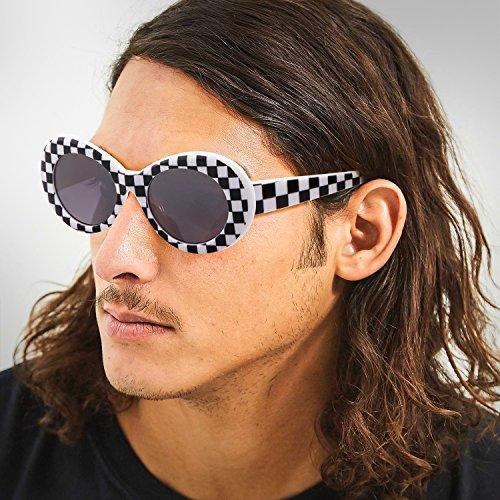 Adewu gafas sol ovaladas cuadr Gafas de blancas de sol Clout HwI00E65q