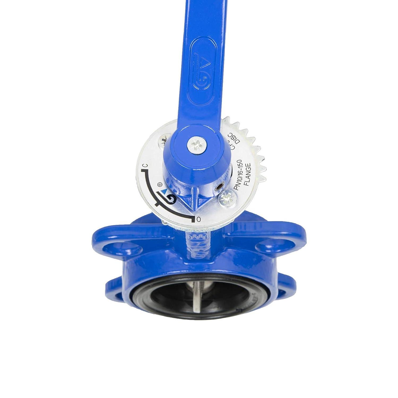 drenajes de suelo DN100 V/álvula de mariposa de brida intermedia Anillo de asiento de EPDM sistemas de /ósmosis de uso: dispensadores de agua Ej bomba de aguas residuales 4