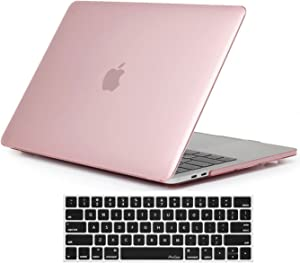 ProCase MacBook Pro 13 Case 2019 2018 2017 2016 Release A2159 A1989 A1706 A1708, Hard Case Shell Cover and Keyboard Skin Cover for MacBook Pro 13 Inch with/Without Touch Bar -Clear Pink