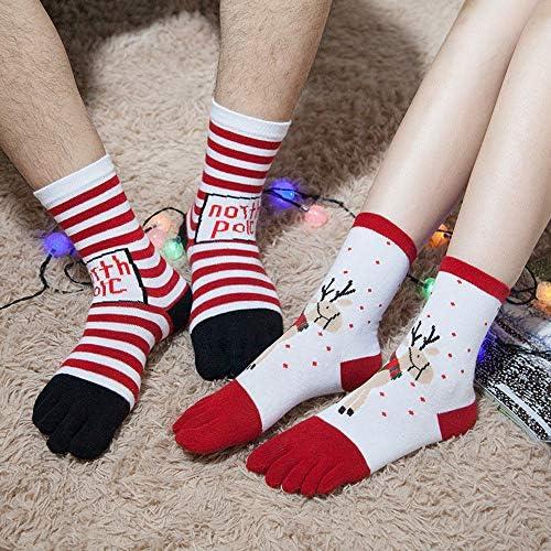 Christmas G-real Cute Baby Girls Unisex Print Multicolor Toe Socks Five Finger Socks