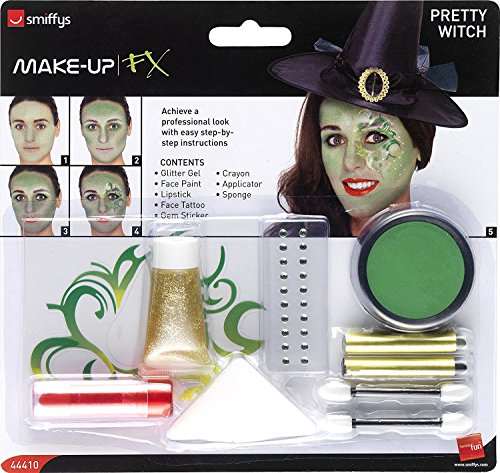 Halloween Pretty Witch Face Paints/Gem/Tattoo Make-Up Kit ()
