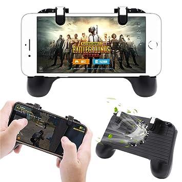 Controlador de Juego m/óvil para PUBG 5 en 1 versi/ón Mejorada Gamepad Shoot y Aim Trigger Phone Cooling Pad Power Bank para Android y iOS Fortnite//Knives out