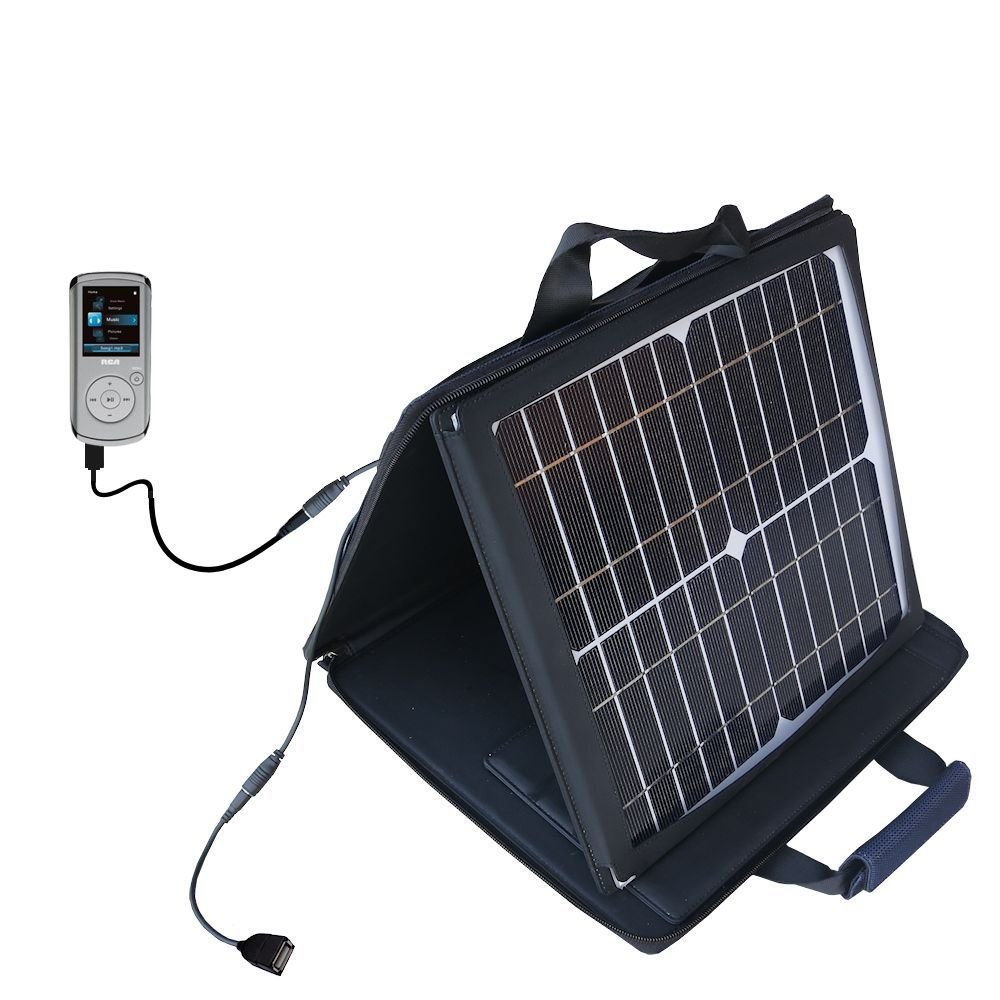 RCA M4204 OPAL Digital Media Player compatible SunVolt Portable High Power Solar Charger by Gomadic - Outlet- speed charge for multiple gadgets by Gomadic