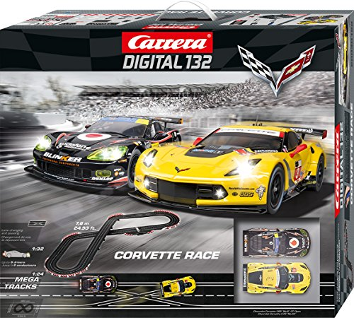Carrera Digital 132 Corvette Slot Car Race Track - 1:32 Scale Digital System - Includes 2 Chevrolet Corvette Cars and 2 Speed Controllers - Supports Up to 6 Drivers Racing at Once - Ages 8 and (Chevrolet Corvette Car)
