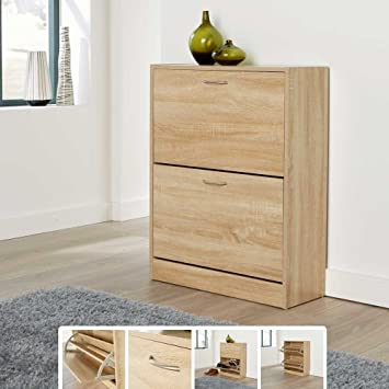 GB Furniture Shoe Cabinet Storage Furniture Wooden Rack Cupboard Shoes  Drawer/Organiser Unit