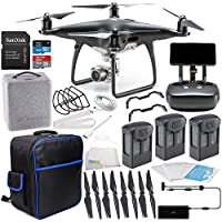 DJI Phantom 4 PRO+ PLUS Obsidian Edition Drone Quadcopter Includes Display (Black) Ultimate On-The-Go Bundle
