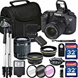 Canon EOS 7D Mark II Digital SLR Camera + 18-55mm STM + SD Card Reader + 64GB Memory + Remote + Accessory Bundle - International Version