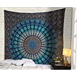 Wall Tapestry Blue Mandala Indian Home Decorative Hangings Bohemian Tapestry Hippy Tapestries Room Tapestry Divider Curtains Picnic Beach Throw Sheet By Rajrang