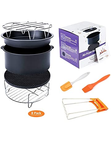 Deep Fryers Universal Air Fryer Accessories Including Cake Barrel,Baking Dish Pan,Grill,