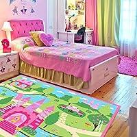 LELVA Cartoon Castle Girls Bedroom Rugs,Delicate Little...