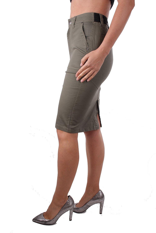 787b48b195 Lulus | Olive Green Denim Snap Button A-Line Skirt | Must .