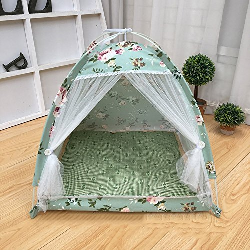 M-505050cm Cats And Dogs Pet House Tent Style Foldable Storage Four Seasons Available Green S M L (Size   M-50  50  50cm)