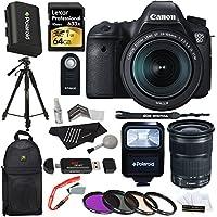 Canon EOS 6D 20.2 MP CMOS DSLR with Canon EF 24-105mm IS STM Kit + Lexar 64GB + Polaroid 57