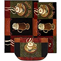 3-Pieces Rectangle Runner Machine-Made Stain Resistant New Wave Caffe Latte Primary Area Rugs Set (Set Contains: 20x45, 30x46 And 18x30 Slice)
