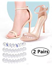 Antiskid Paste Anti-Gravity Shoe Insert Stop Foot from Slipping Forward Secure Heels Comfort Solution Transparent Silicone Thin Strips High Heel Cushion Forefoot Inserts Pad Anti Slip Sandals Foot Support 2 Pairs