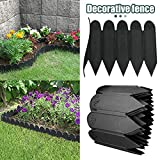 Garden Plastic Fence, Indoor Outdoor Protective Guard Edging Decor, Interlocking Outdoor Lawn Stakes, Can Be Cut at Will, Form Any Fence Shape You Want, 1186 Inches