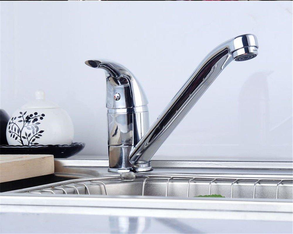 NewBorn Faucet Wasserhähne Warmes und Kaltes Wasser Größe Qualität der Kupfer Küche Leitungswasser Rotary Double-Mixing Ventil Spüle Wasser S Moderne Galvanik Fittings Tippen