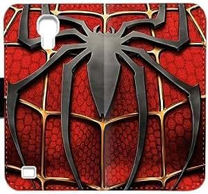 Vengadores Spiderman J1K3O Funda Samsung Galaxy S4 Funda caja del cuero del caso del tirón del teléfono SP6I88 personalizada funda protectora