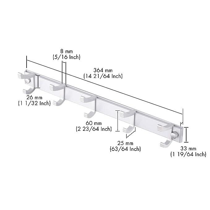 Amazon.com: Kes SUS 304 - Perchero de pared de acero ...