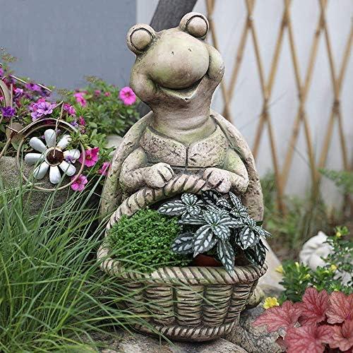 庭の装飾シミュレーションタートル肉質フラワーポット防水酸化マグネシウム庭の庭の風景芝生装飾ギフト-29 * 26 * 44 cm A