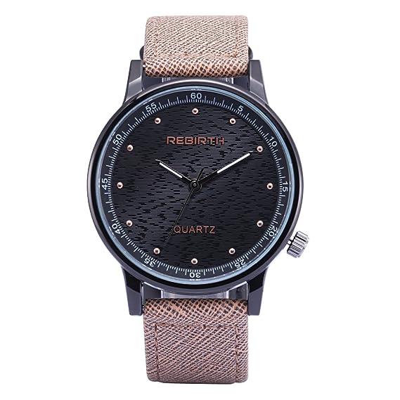 vestido de la cara negro correa de cuero relojes grandes púrpura de la moda de la
