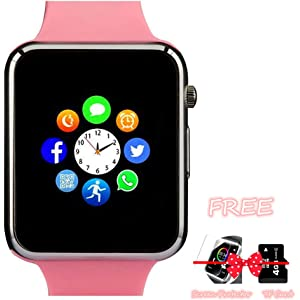 Smart Watch, Bluetooth Smartwatch with Camera TF Card Pedometer SIM Card Slot Music Player Compatible