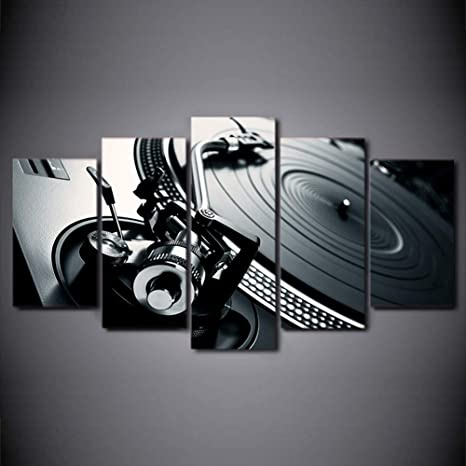 Turntables MUSIC DJ /& CLUB  Canvas Art Print Box Framed Picture Wall Hanging BBD