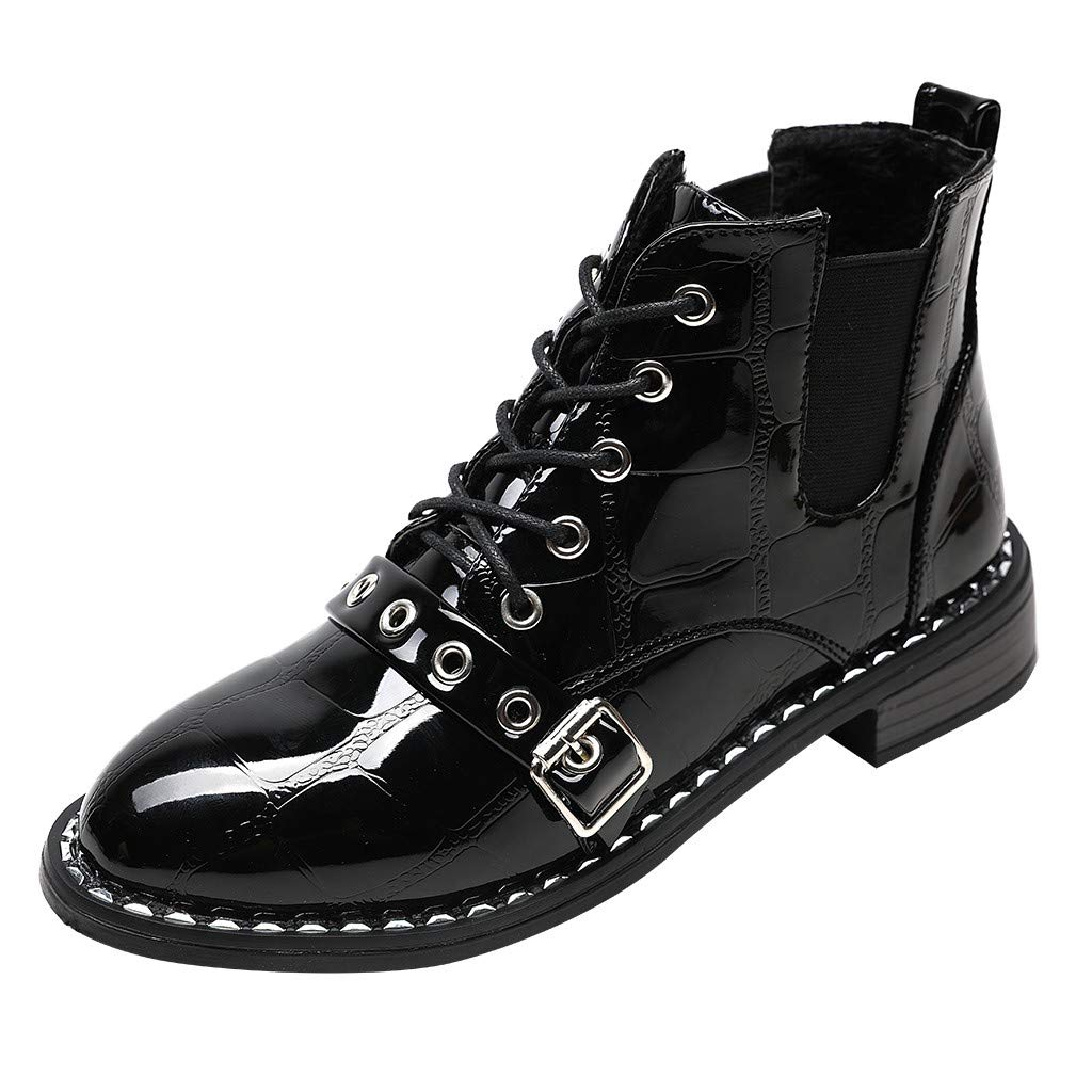 RBNB Chaussure Femme Automne Hiver Cuir Bout Rond Bottes Plates Chaussures Chaudes Chaussures Chaudes Mode Simples Casual Chaussures Classiques Bottes Plein air Bottes de Neige RBNB-bottes femme