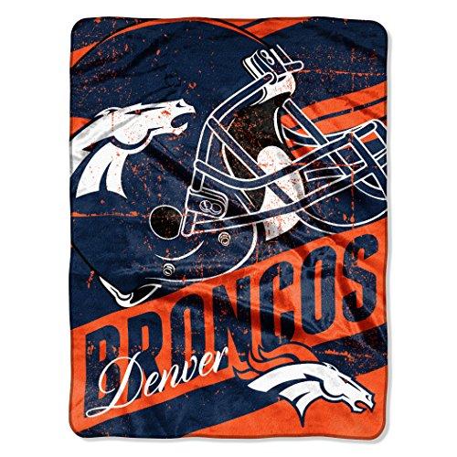 Northwest Denver Broncos Soft Blanket - The Northwest Company Officially Licensed NFL Denver Broncos Deep Slant Micro Raschel Throw Blanket, 46