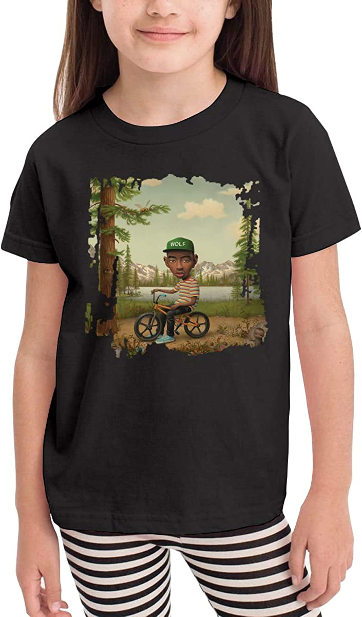 WYeter Tyler The Creator Wolf Childrens Soft Short Sleeve Tee Black