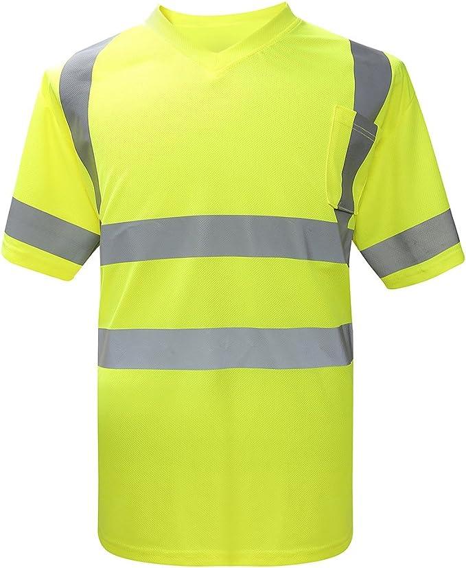 AYKRM Camiseta Reflectante T-Shirt de Alta Visibilidad Polo ...