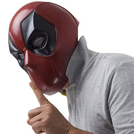 QWEASZER X-Men Deadpool máscara Facial Completa Casco de PVC ...