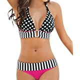 Skyblue-uk Femme Sexy Bikini Imprime Bandage Push Up Rembourre Swimsuit Triangle Deux Piece Maillot de Bain Beachwear