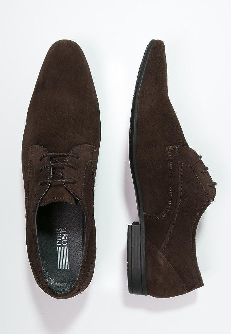 37f1d944 PIer One Zapatos de Hombre en Marrón o Negro - Elegantes Zapatos de Cordones  Tipo Oxford - Zapatos Derby de Vestir para ir a Trabajar o para Salir -  Zapatos ...