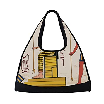 b211a039a9d1 OuLian Sport Gym Bag Ancient Egypt Egyptian Character Canvas Travel ...