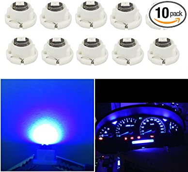 Heater Control Lights Bulbs A//C Dash Climate Gauge TORIBIO 6 x T4.2 Neo Wedge 1 SMD 3030 Chip LED White Car Instrument Cluster Panel